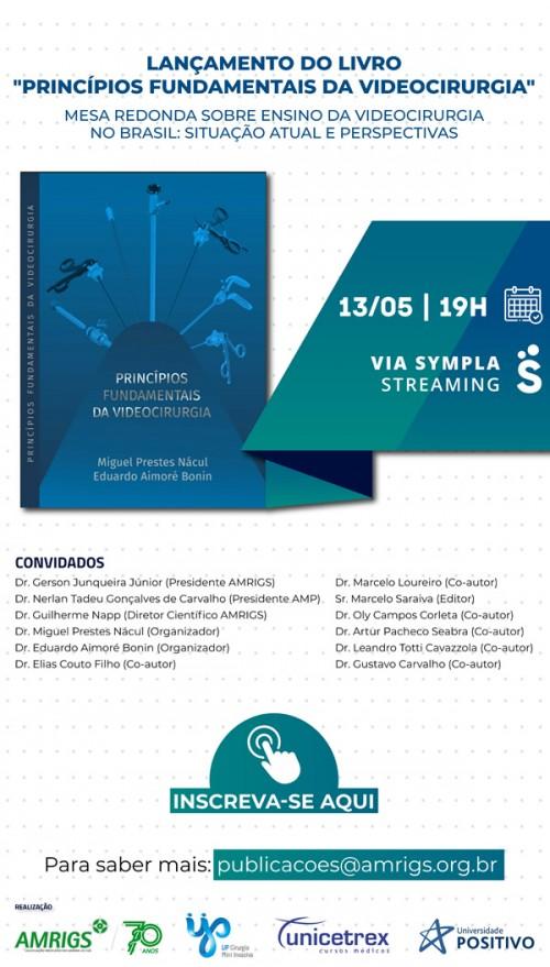 lançamento do livro Princípios Fundamentais da Videocirurgia