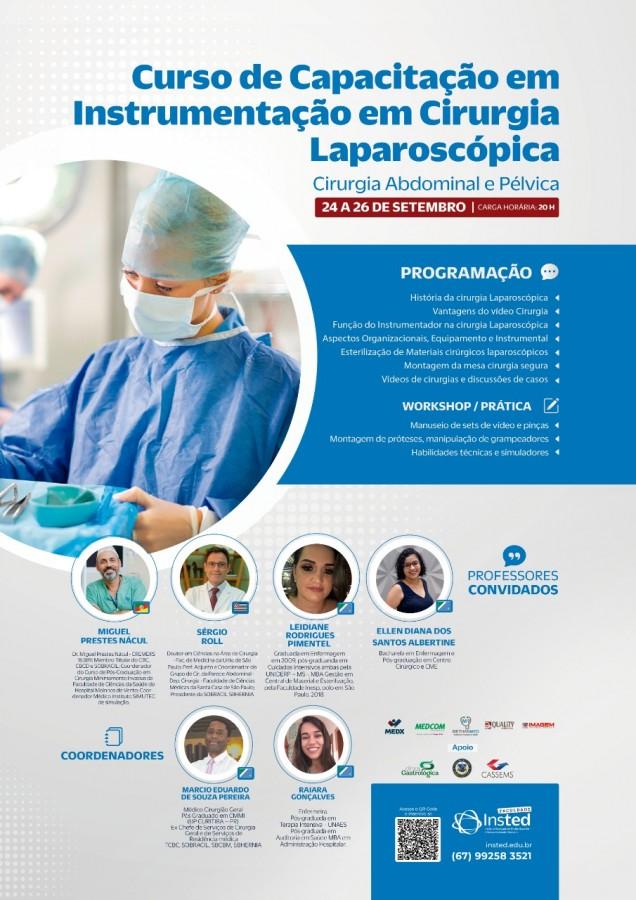 Dr. Miguel em curso de instrumentação para videocirurgia